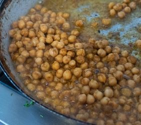 Chickpeas And Spiced Aubergine