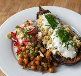 Spiced Aubergine & Chickpeas Recipe At Cow House Studios